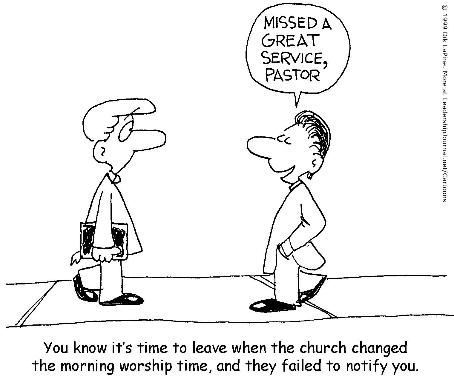 Change of Service Ousts Pastor | CT Pastors